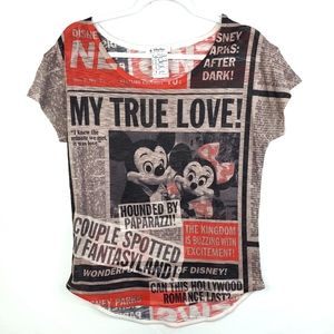 Disney Parks Minnie & Mickey Tshirt NWOT